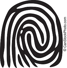druck, fingerprint), (vector, finger