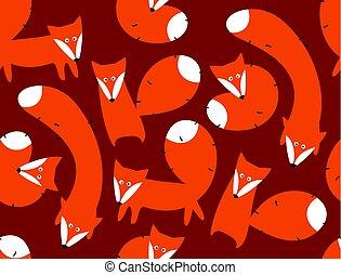 druck, foxes.