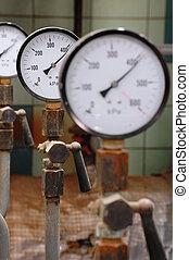 druck, linie, ventil, gas, manometers
