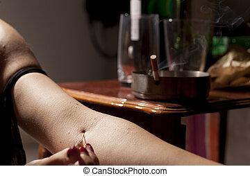 drug-addict, 婦女