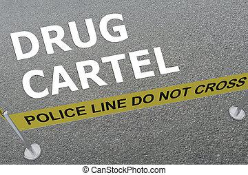 DRUG CARTEL concept - 3D illustration of DRUG CARTEL title...