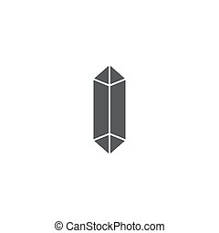 drug crystals vector icon concept, isolated on white...