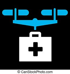 Drug Drone Delivery Icon