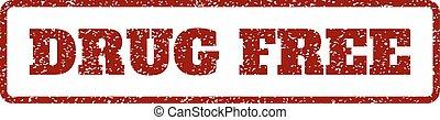 Drug Free Rubber Stamp