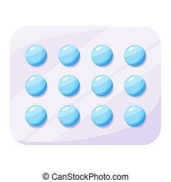 drug., médicament, concept, pharmacie, cloque, médecine, ...
