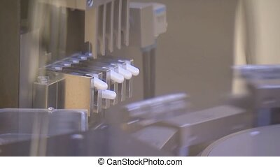 Drug Manufacturing. Pharmaceutical factory. Medicine...