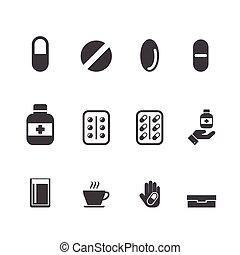 drug, medication vector set