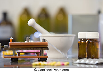 Drug Production - All the equipment needed for the...