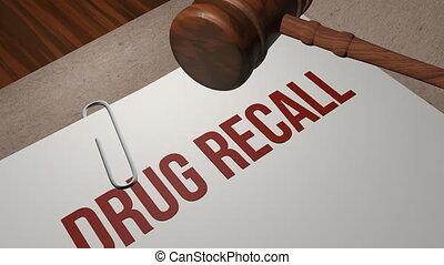 Drug Recall lawsuit legal concept shot clip