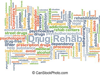 Drug rehab background concept - Background concept wordcloud...