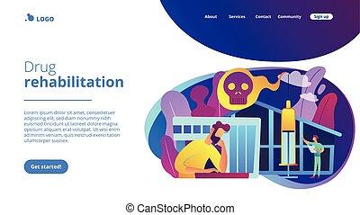 Drug rehab center concept landing page.