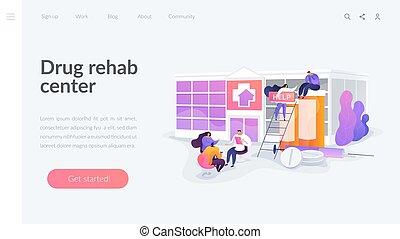 Drug rehab center landing page concept