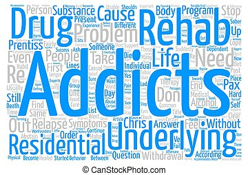 Drug Rehab Do You Need It text background word cloud concept