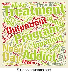 Drug Rehab Outpatient vs Inpatient What s The Difference text background word cloud concept