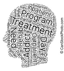 Drug Rehab Outpatient vs Inpatient What s The Difference text background wordcloud concept