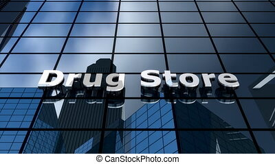 "Drug store building - ""Computer generated, drug store ..."