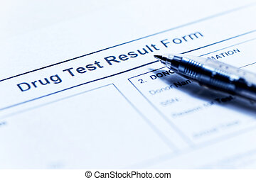 Drug test blank form
