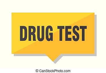 drug test price tag - drug test yellow square price tag