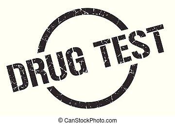 drug test stamp - drug test black round stamp