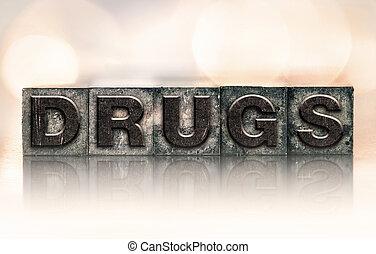 drugs, марочный, концепция, тип, типографской