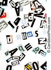 drugs, надпись