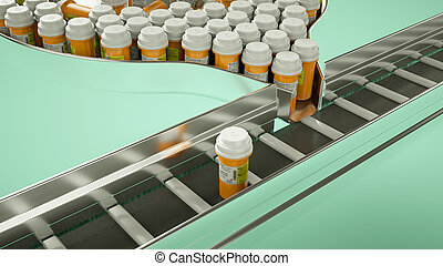 Drugs and pills production line