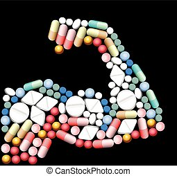 drugs, biceps, anabolic, pillen