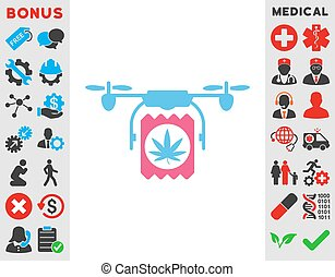 Drugs Drone Delivery Icon