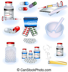 Drugs icons - Collection of drugs icons, very detailed...
