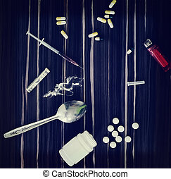 Drugs on the table photo