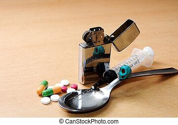 drugs pills skull concept