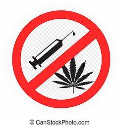 drugs prohibition sign symbol