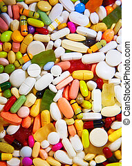 Drugs - Colorful medicins (tablets and capsules)