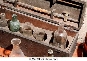 drugstore bottles  - antique drugstore bottles