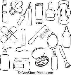 drugstore, skitse, billederne