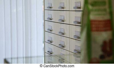 Drugstore,cosmetics and healthcare interior. - Wardrobe with...