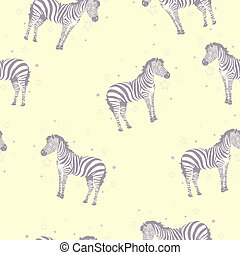 druk, koźlę, zebra, safari, próbka