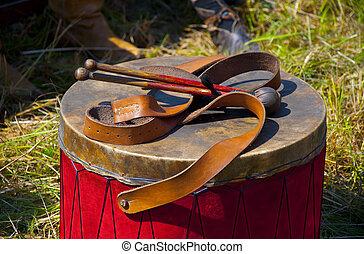 Drum and drum-type sticks