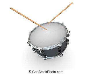 Drum and drumsticks