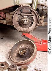 drum brake removed
