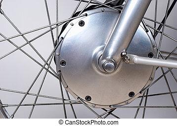 Drum brake - Vintage drum brake on a motorcycle of the 1950s
