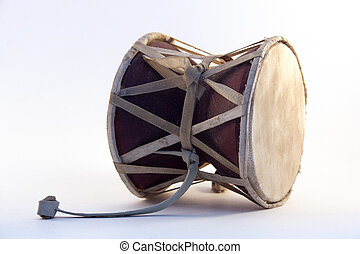 drum Damara lies on a white background