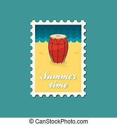 Drum flat stamp