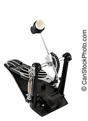 Drum foot pedal - Drum kit part. Foot petal on white...