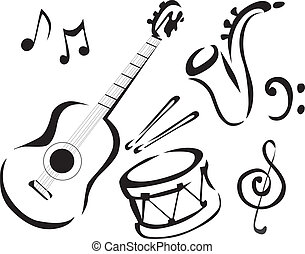 music - Drum, guitar, sax, music, instruments, guitars,...