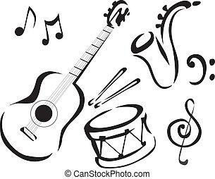 music - Drum, guitar, sax, music, instruments, guitars, ...