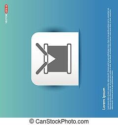 drum Icon - Blue Sticker button