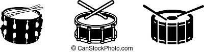drum icon isolated on background