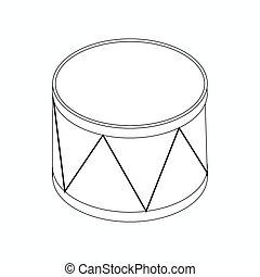 Drum icon, isometric 3d style
