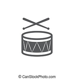 Drum Icon on white background.